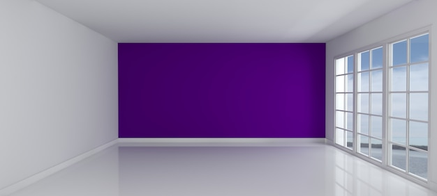 Leere Mit Einem Lila Wand Zimmer   Download Der Kostenlosen Fotos