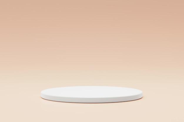 Leere podest- oder sockelanzeige auf modernem hintergrund mit zylinderständerkonzept. Premium Fotos