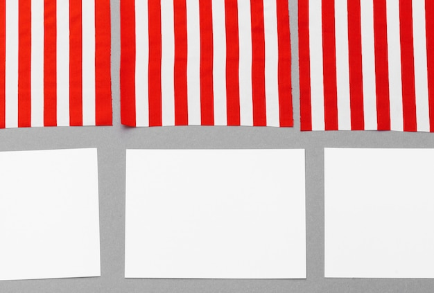 Leere visitenkarte mit amerikanischer flagge Premium Fotos