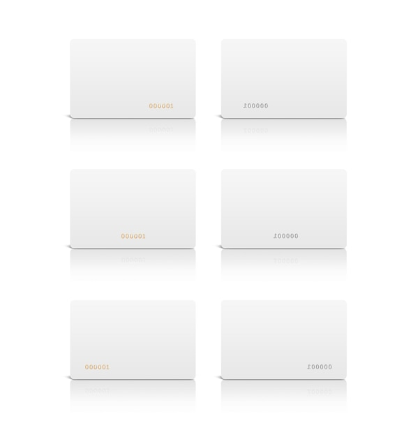 Leere weiße plastikkarte lokalisiert Premium Fotos
