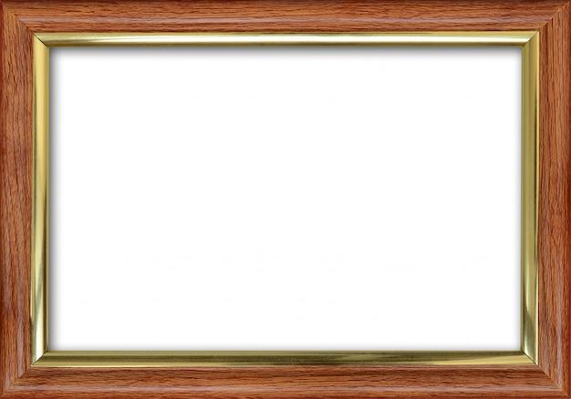 Leerer bilderrahmen mit einem freien platz nach innen, getrennt auf weiß Premium Fotos