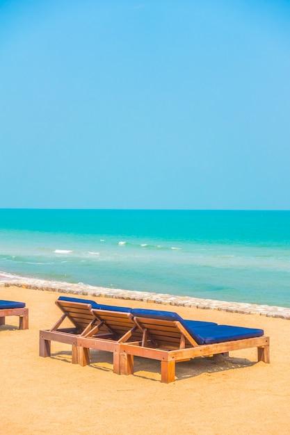 Leerer strandkorb Kostenlose Fotos