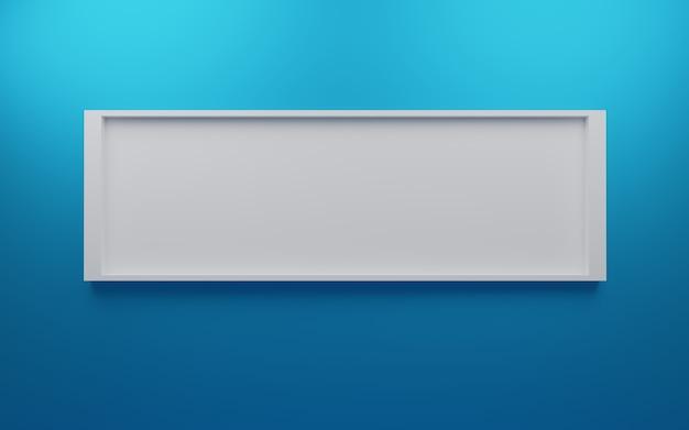 Leerer wand-fotorahmen mit weißem fotorahmen Premium Fotos
