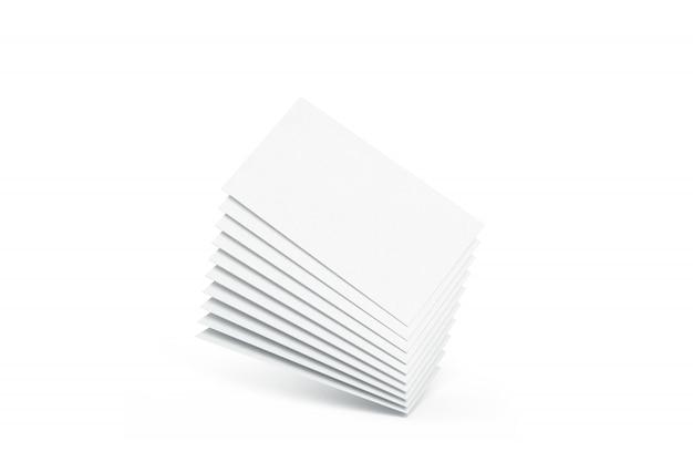 Leerer weißer nennender visitenkartehaufen, Premium Fotos