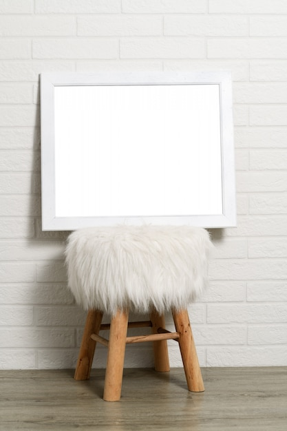 Leerer weißer rahmen Premium Fotos