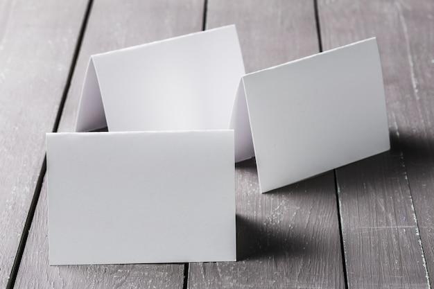 Leeres modell der visitenkarten Premium Fotos
