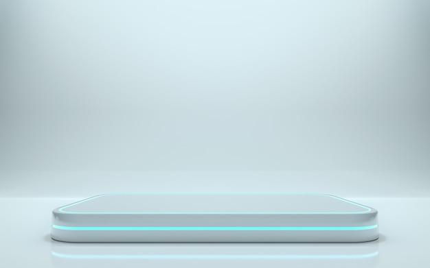 Leeres podium für das produkt. 3d-rendering - abbildung Premium Fotos