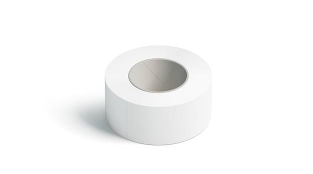 Leeres weißes klebeband, isoliert liegend, Premium Fotos
