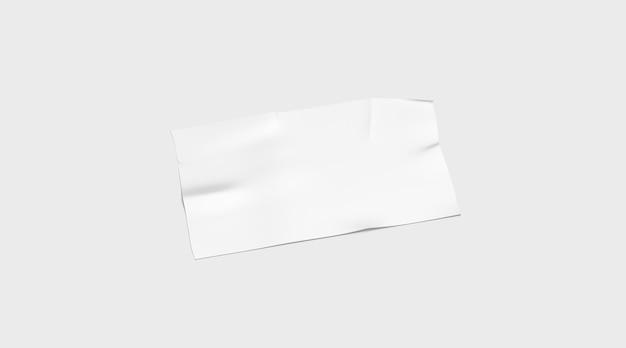 Leeres weißes klebebandstück geklebt, isoliert Premium Fotos
