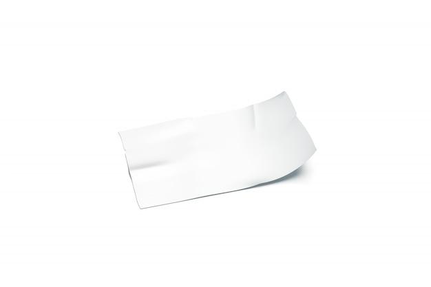 Leeres weißes klebebandstück klebte gebogene ecke nach oben Premium Fotos