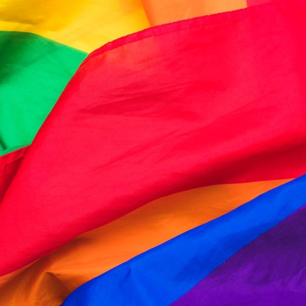 Lgbt-flagge auf stoff Kostenlose Fotos