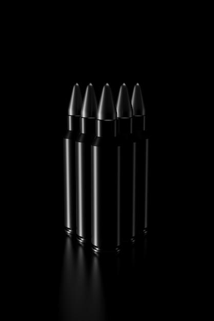 Licht und schatten der kugel in der dunkelheit Premium Fotos