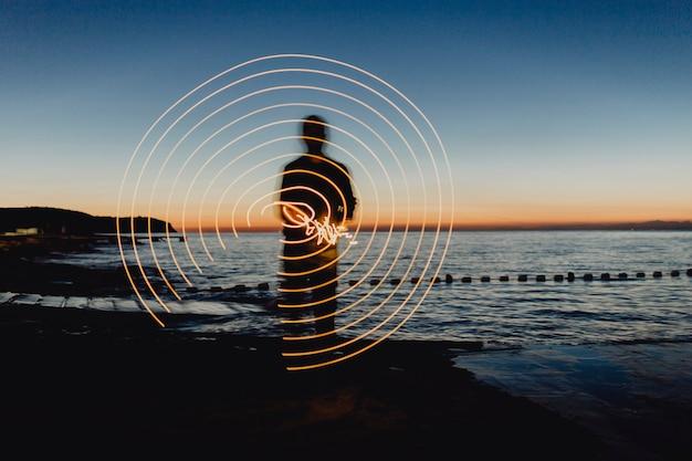 Lichter in der nacht drehen Kostenlose Fotos