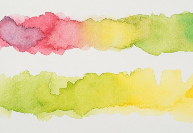 Linien von buntem aquarell Kostenlose Fotos