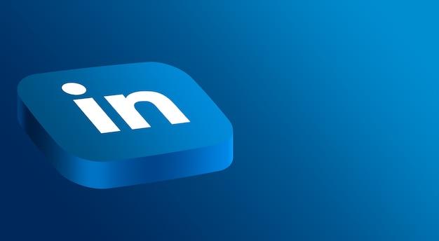 Linkedin logo minimales design 3d Premium Fotos