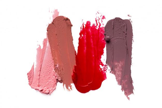 Lippenstift auf weiß Premium Fotos