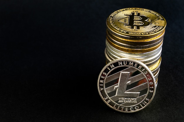 Litecoin ist eine moderne art des austauschs Premium Fotos