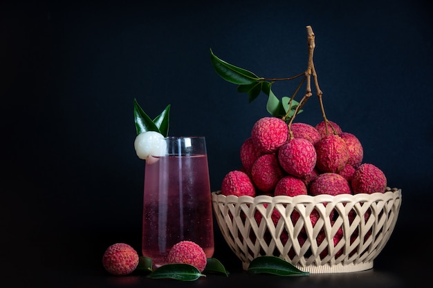 Litschisaft und litschifrucht. Kostenlose Fotos