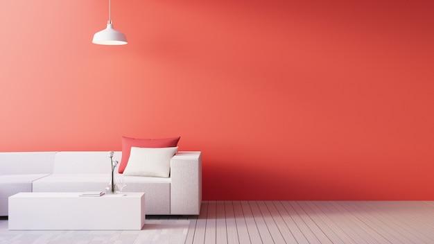 Living coral interior / farbe des jahres für festliche und valentinstag Premium Fotos