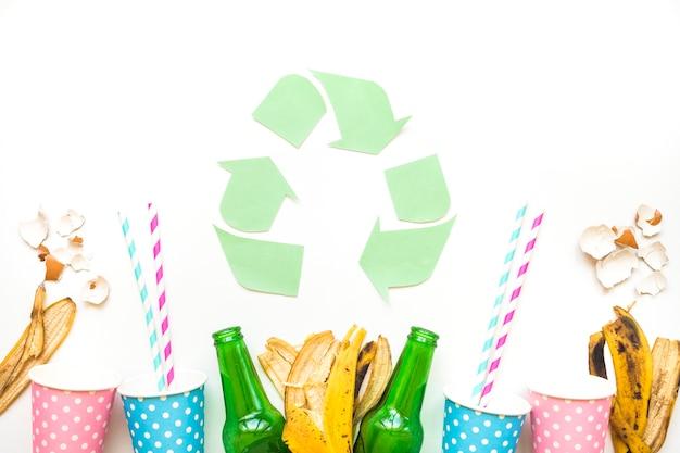 Logo mit müll recyceln Kostenlose Fotos