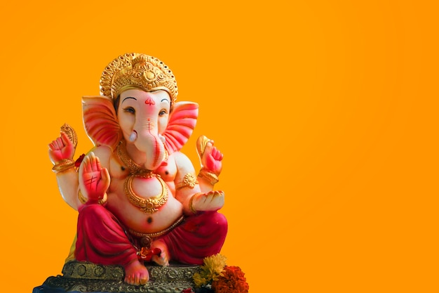 Lord ganesha, indischer ganesh festivalhintergrund Premium Fotos