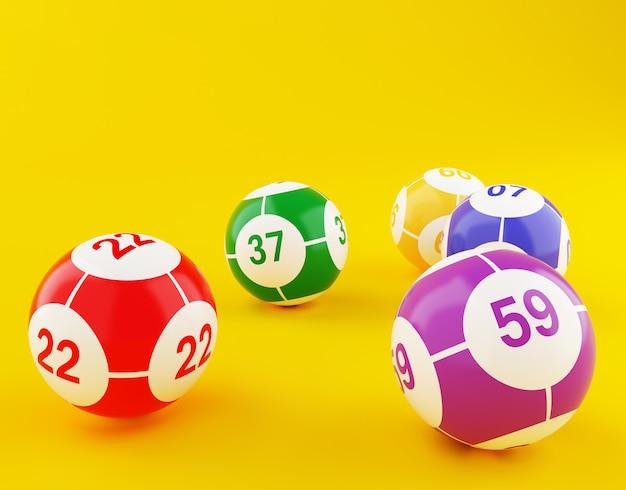 Lotterie-bingobälle Premium Fotos