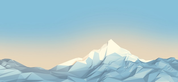 Low-poly-berge Premium Fotos