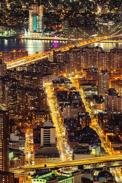 Luft-manhattan-brücke new york Premium Fotos