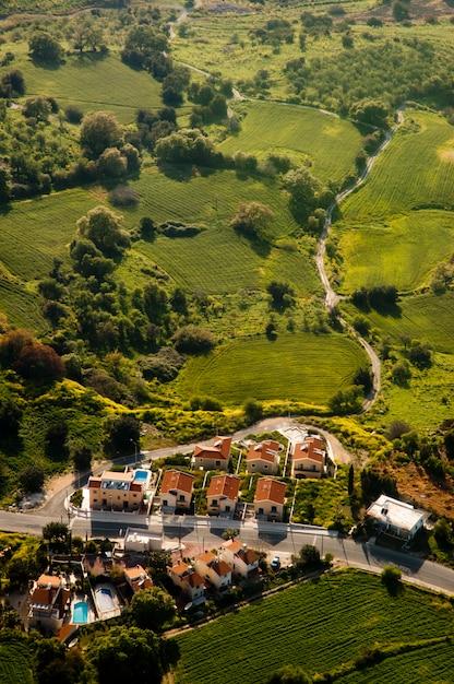 Luftaufnahme des wohngebietes Kostenlose Fotos