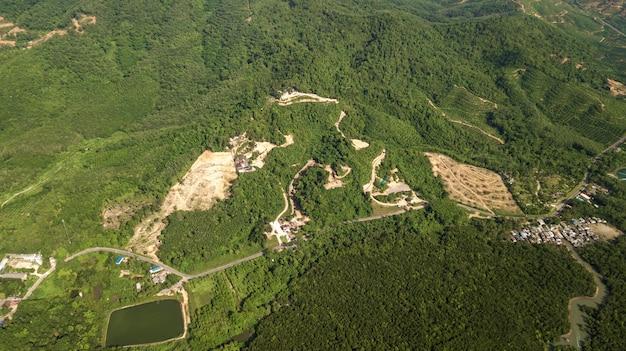 Luftfoto des landschaftsberges thailand Premium Fotos