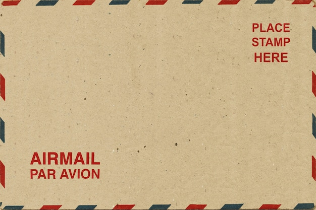 Luftpostrückseite leere postkarte. Premium Fotos