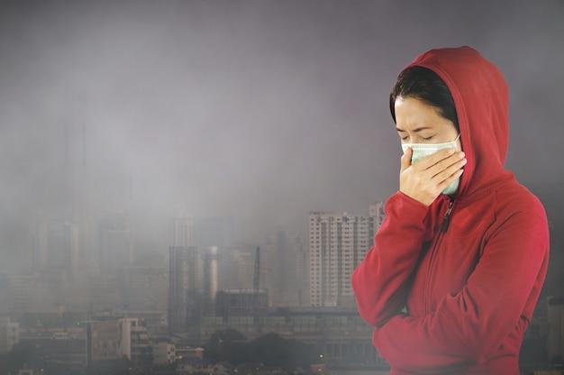 Luftverschmutzung in bangkok. Premium Fotos