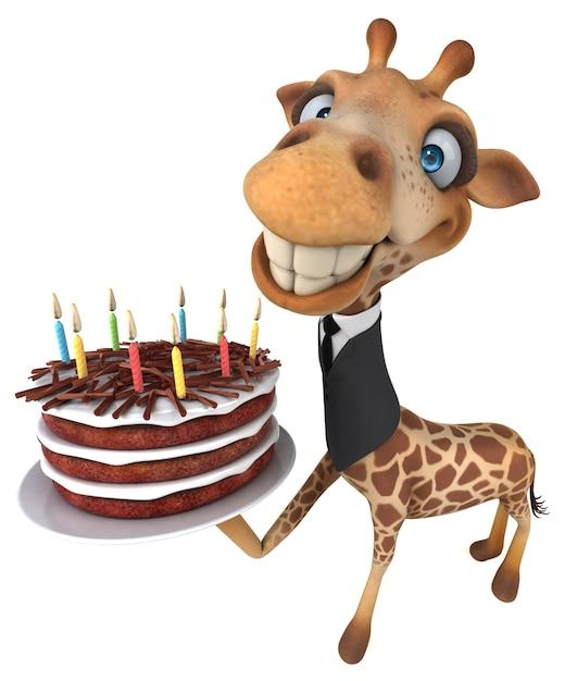 Lustige giraffenillustration Premium Fotos