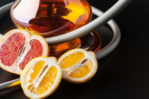 Luxus-shisha mit exotischen früchten. shisha lounge. Premium Fotos