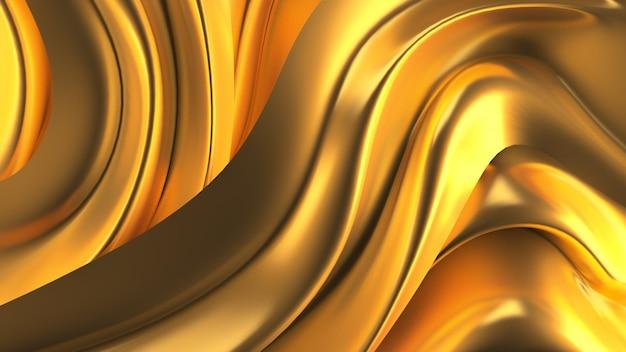 Luxushintergrund mit goldvorhangstoff. 3d-illustration Premium Fotos