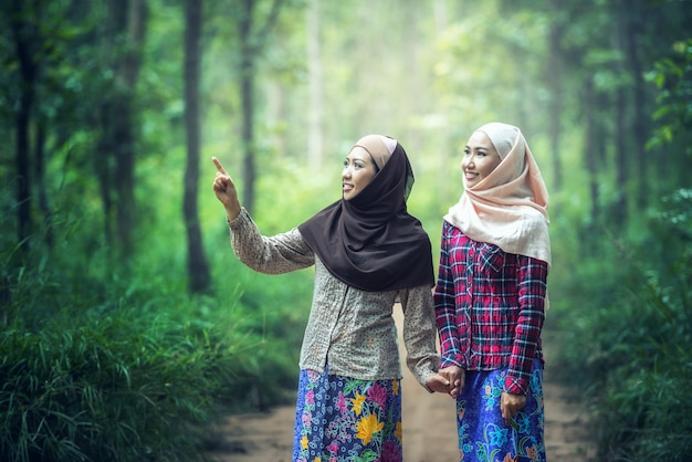 Mädchen im hijab Premium Fotos