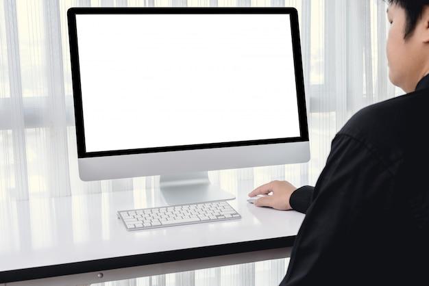 Männerhand mit computermaus Premium Fotos