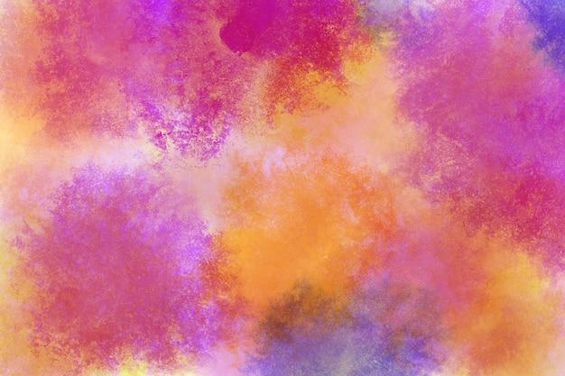 Magenta-cyanrosa-orange-gelbblau der regenbogenaquarellhintergrundtapeten-wolke Premium Fotos
