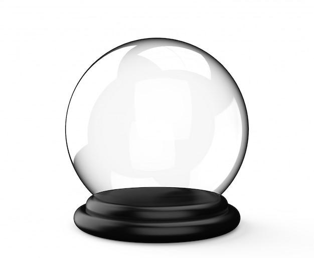 Magische kristallkugel auf weißem hintergrund Premium Fotos