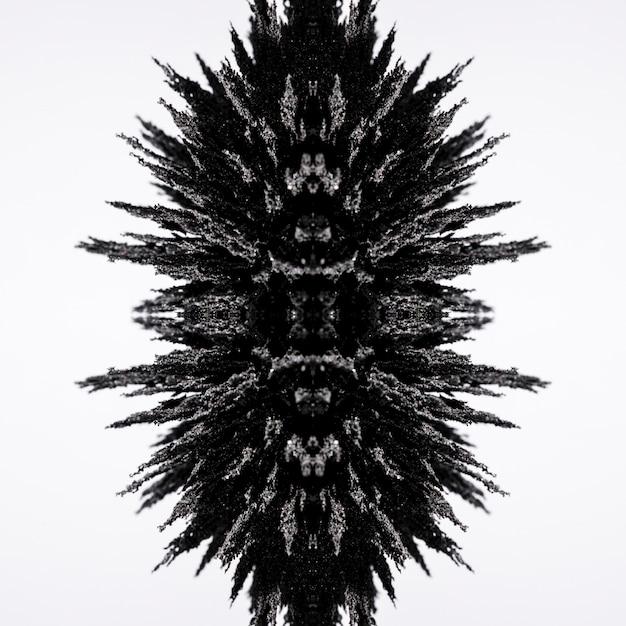 Magnetisches metallisches rasierdesign des kaleidoskops lokalisiert auf weißem hintergrund Kostenlose Fotos