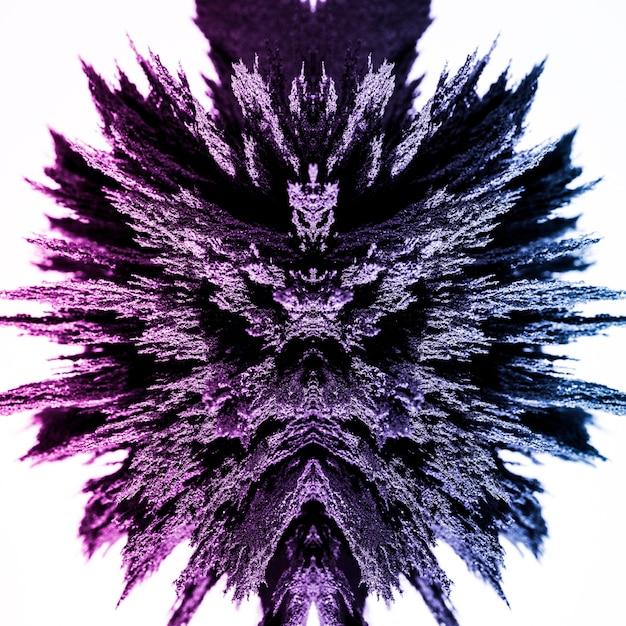 Magnetisches metallisches rasieren der kaleidoskopzusammenfassung lokalisiert auf weißem hintergrund Kostenlose Fotos