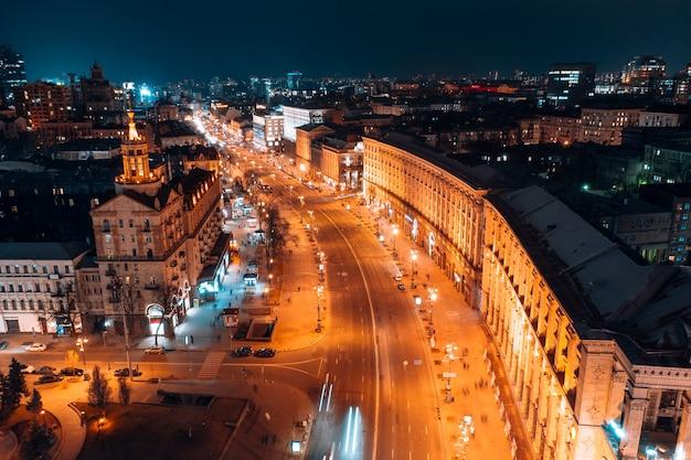 Maidan nezalezhnosti ist der zentrale platz der hauptstadt der ukraine Kostenlose Fotos