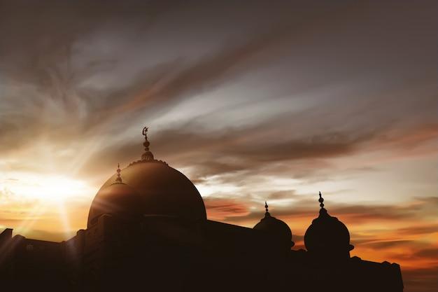 Majestätische moschee Premium Fotos