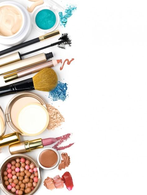 Make-up pinsel und kosmetik Premium Fotos