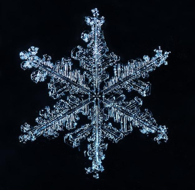 Makro der gefrorenen kleinen schneeflocke Premium Fotos