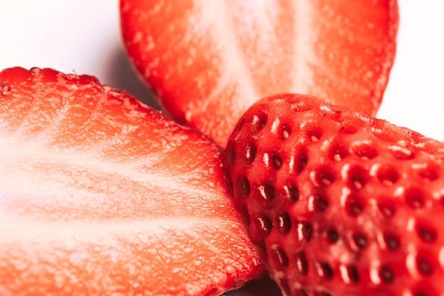 Makro erdbeer textur Kostenlose Fotos