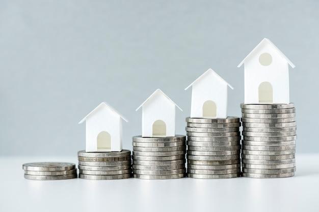 Makroschuß der zunahme des hypothekenzinenkonzeptes Kostenlose Fotos