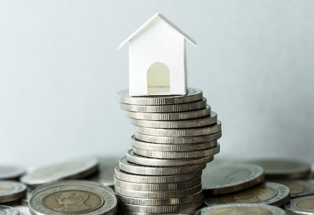 Makroschuß des finanzhypothekenkonzeptes Kostenlose Fotos