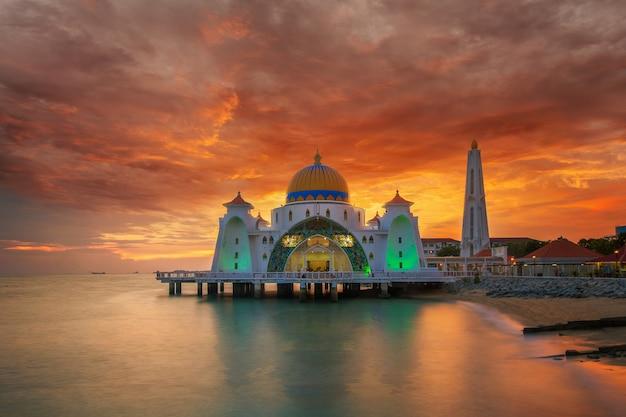 Malakka-moschee Premium Fotos