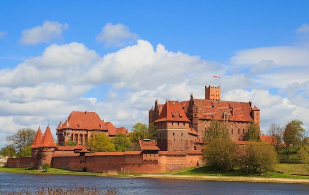 Malbork schloss in der pommernregion von polen. Premium Fotos